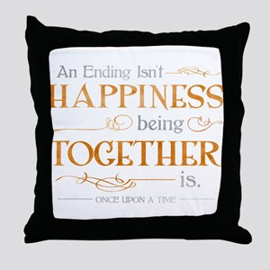Ending Isn't Happiness Throw Pillow
