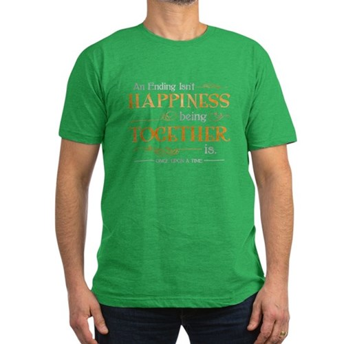 Ending Isn't Happiness Men's Dark Fitted T-Shirt