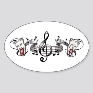 Theater and Music Oval Sticker