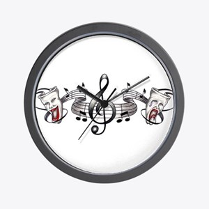 Theater and Music Wall Clock