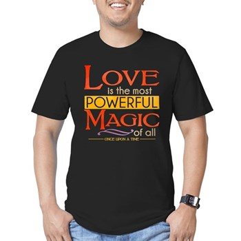Love is the Most Powerful Magic Men's Dark Fitted T-Shirt