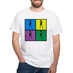 Color Peace Woman Gear White T-Shirt