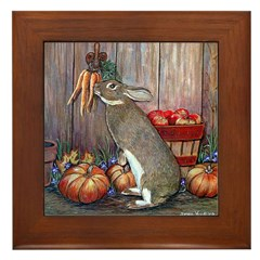 Lil Brown Rabbit Framed Tile