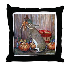 Lil Brown Rabbit Throw Pillow