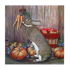 Lil Brown Rabbit Tile Coaster
