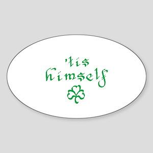 'tis himself Oval Sticker