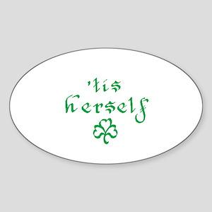 'tis herself Oval Sticker
