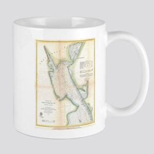 Vintage Port of Providence Rhode Island Map ( Mugs