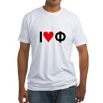 I Love Phi Fitted T-Shirt