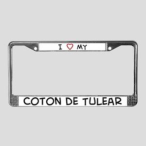 I Love Coton de Tulear License Plate Frame