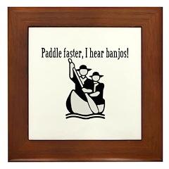 I Hear Banjos Framed Tile