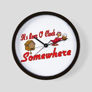 Beer O Clock Wall Clock