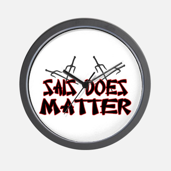 Sais Does Matter Wall Clock