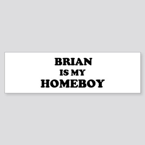 Brian Is My Homeboy Bumper Sticker
