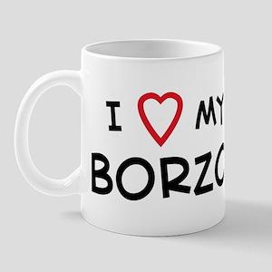 I Love Borzoi Mug