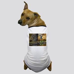 Wood Duck in Flight Dog T-Shirt