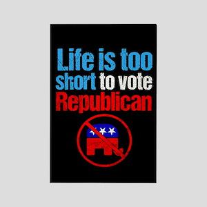 Anti Republican Humor Rectangle Magnet