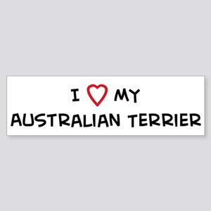 I Love Australian Terrier Bumper Sticker