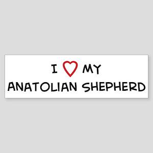 I Love Anatolian Shepherd Bumper Sticker