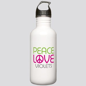 Peace Love Violets Stainless Water Bottle 1.0L