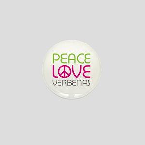 Peace Love Verbenas Mini Button