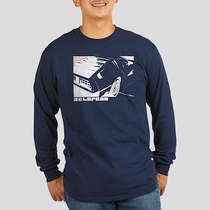 DeLorean 80's Long Sleeve Dark T-Shirt