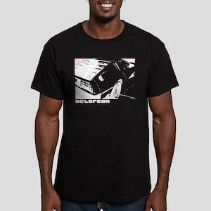 DeLorean 80's Men's Fitted T-Shirt (dark)