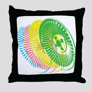 Delorean Wheels Throw Pillow