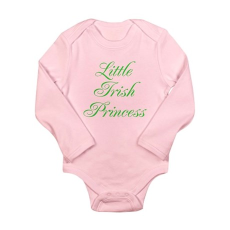 Little Irish Princess Long Sleeve Infant Bodysuit