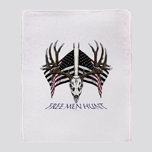 Free men hunt Throw Blanket