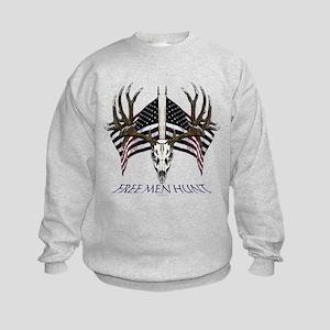 Free men hunt Kids Sweatshirt
