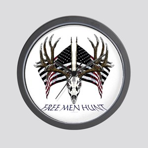 Free men hunt Wall Clock