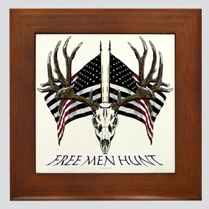 Free men hunt Framed Tile
