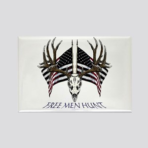 Free men hunt Rectangle Magnet