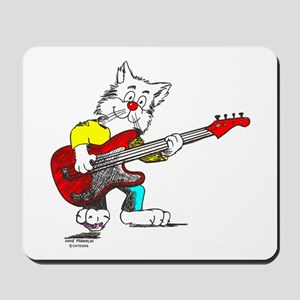 Catoons™ Bass Guitar Cat Mousepad