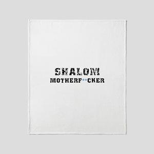 Shalom Motherf**cker Throw Blanket