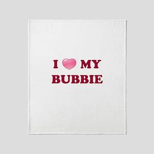 Jewish - I love my Bubbie - Throw Blanket