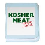 Jewish - Kosher Meat! - baby blanket