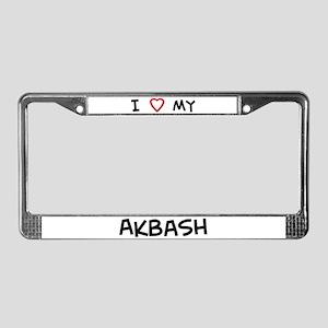 I Love Akbash License Plate Frame