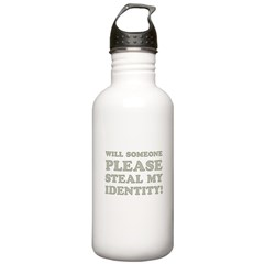 Steal My Identity Water Bottle