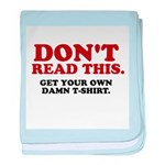 Don't Read This... baby blanket