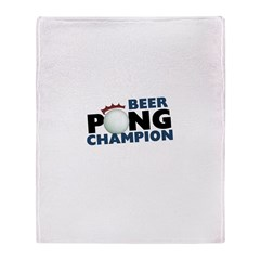 Beer Pong Champion Throw Blanket
