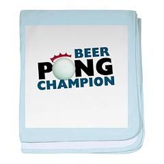 Beer Pong Champion baby blanket