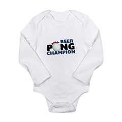 Beer Pong Champion Long Sleeve Infant Bodysuit