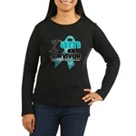 I'm a Survivor Ovarian Cancer Women's Long Sleeve