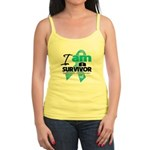 I'm a Survivor Ovarian Cancer Jr. Spaghetti Tank