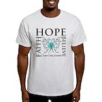 Ovarian Cancer Butterfly Light T-Shirt
