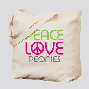 Peace Love Peonies Tote Bag
