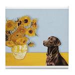Sunflowers / Choc Lab 11 Tile Coaster