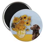 Sunflowers / Choc Lab 11 Magnet